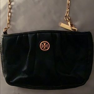 Tory Burch black wristlet/clutch